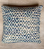 Cushion Cover Ethnic Blue Diamond