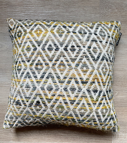 Cushion Cover Ethnic Mustard Diamond