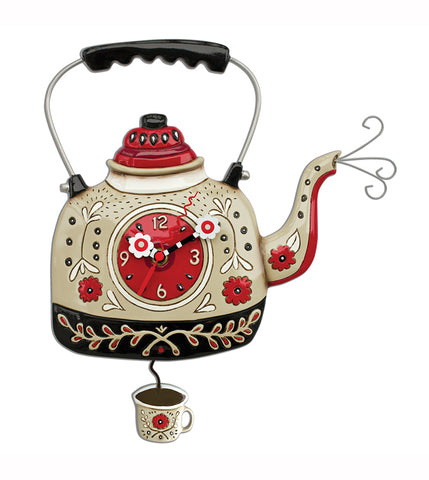 Kettle's On teapot Wall Clock