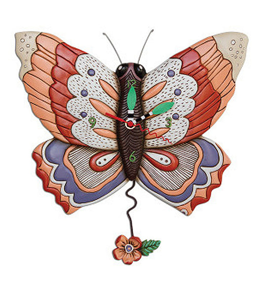 Free Flying Butterfly Wall Clock