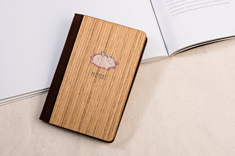 Lether & wood passport cover 4 - Jellj global store