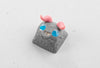 Tiny Little Monster keycap (pink/grey)