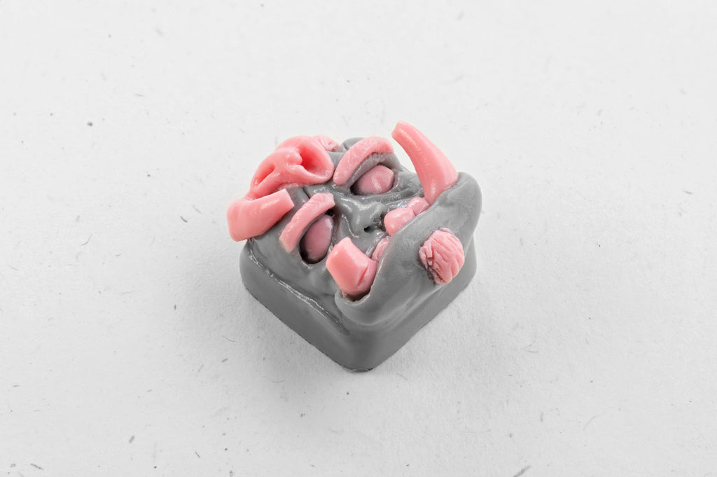 Vicious Orc keycap (pink/grey)