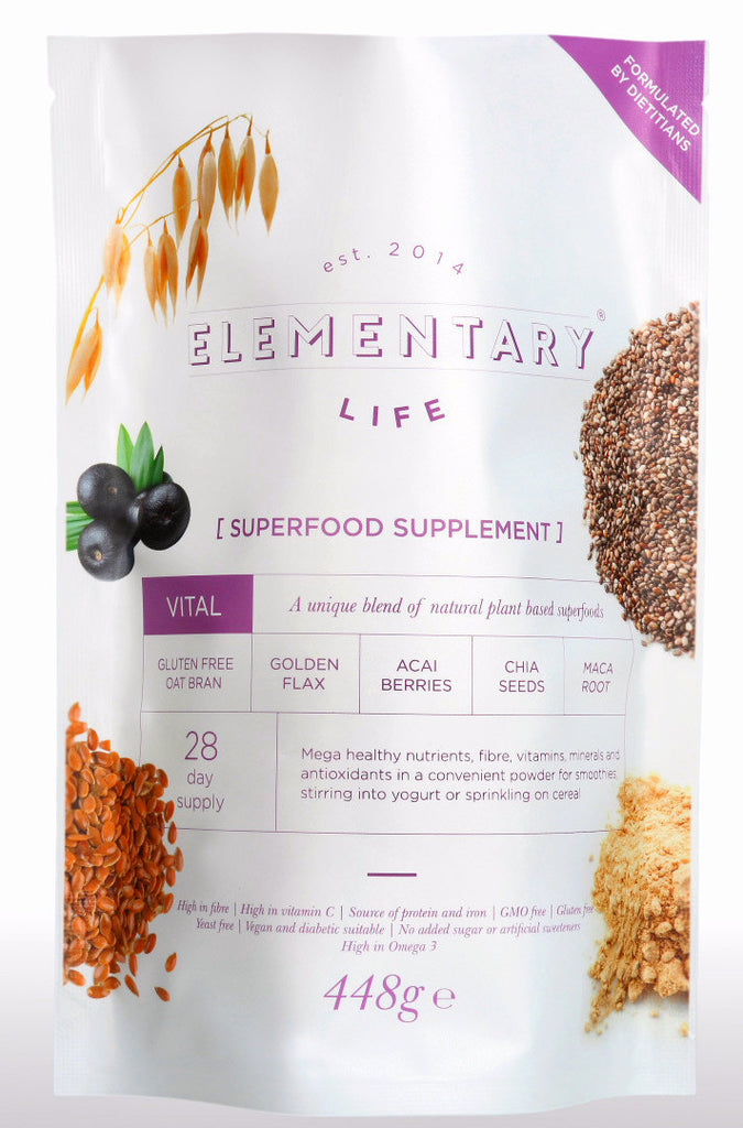 Best superfood mix - berry, seed, grain, vegetable -15oz (£5.58/100g) - ELEMENTARY Superfood 5 in 1 Powder  Nutrition Supplement Powder - superfood supplement powder Elementary Life - ELEMENTARY-Life ELEMENTARY ELEMENTARY-Life