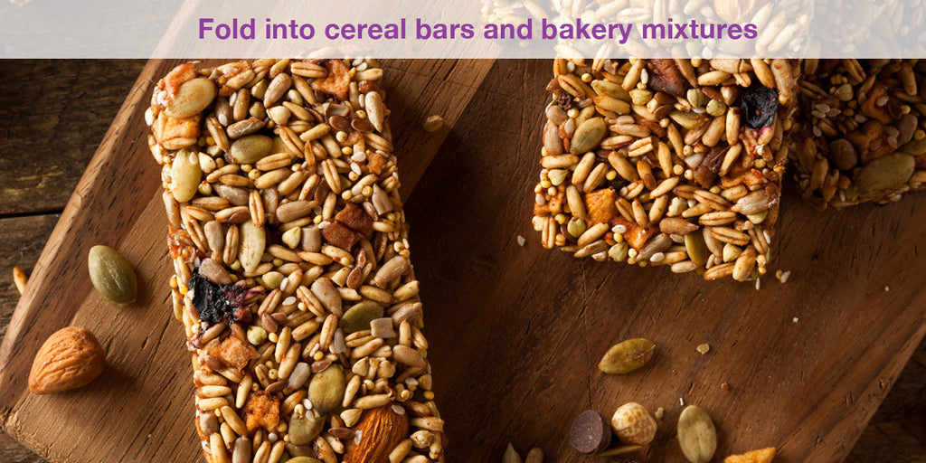 Fold into bakery mixtures