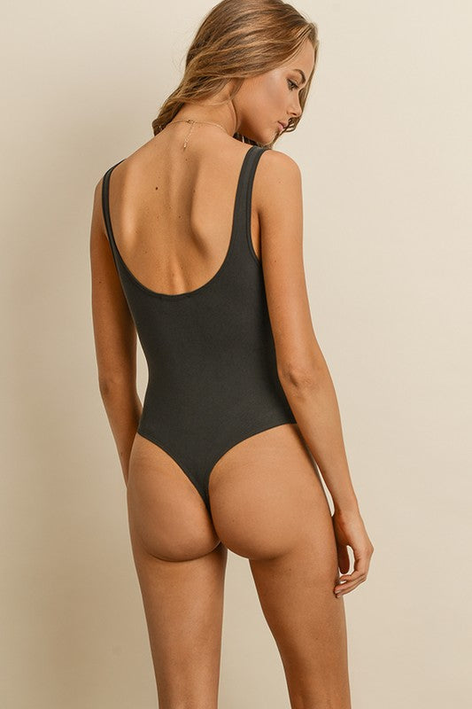 Britta Bodysuit in Black - Bangle Boulevard
