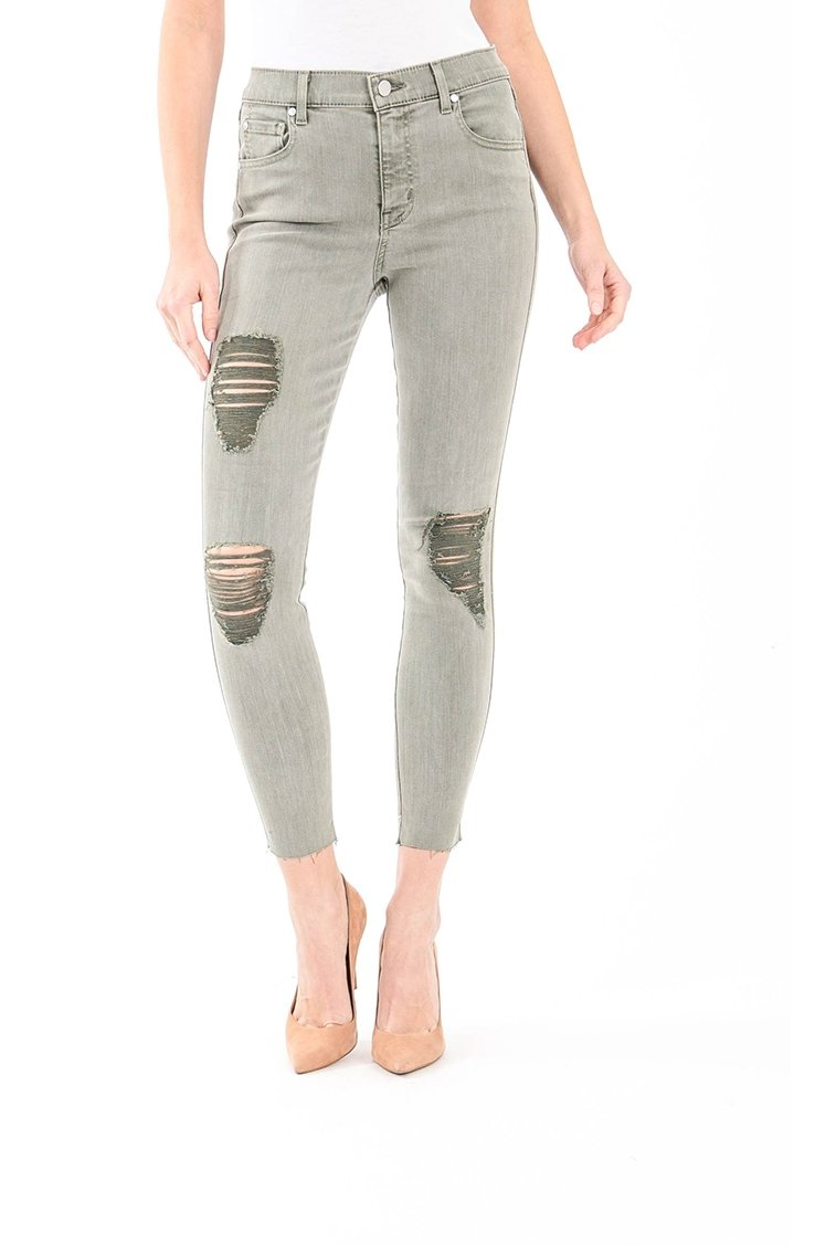 Janie High Rise Skinny in Moss