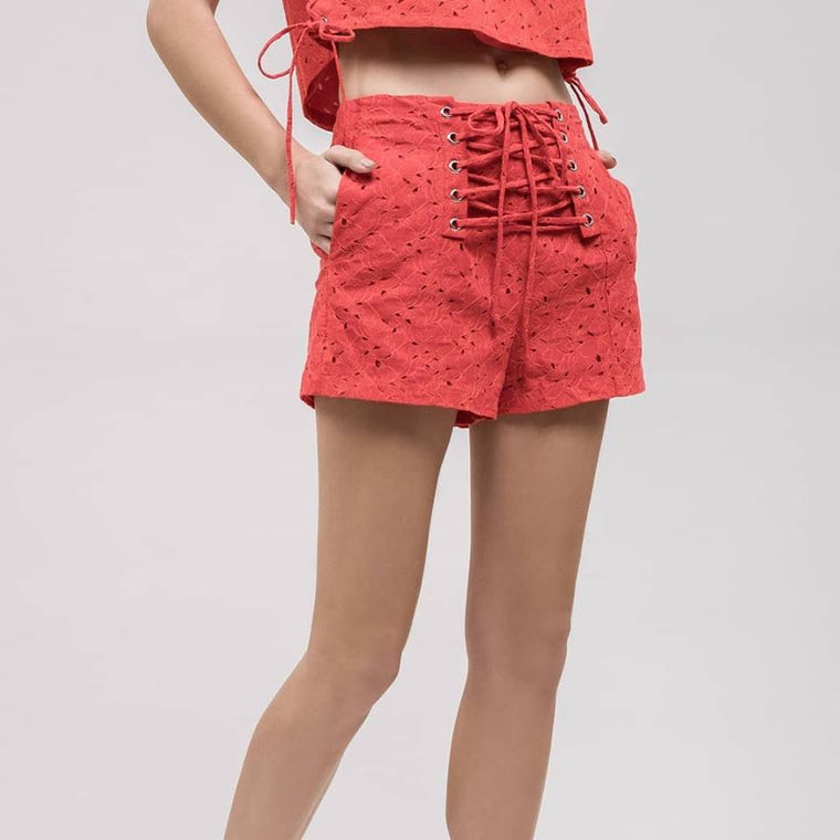 Red Hot Tie Short - Bangle Boulevard
