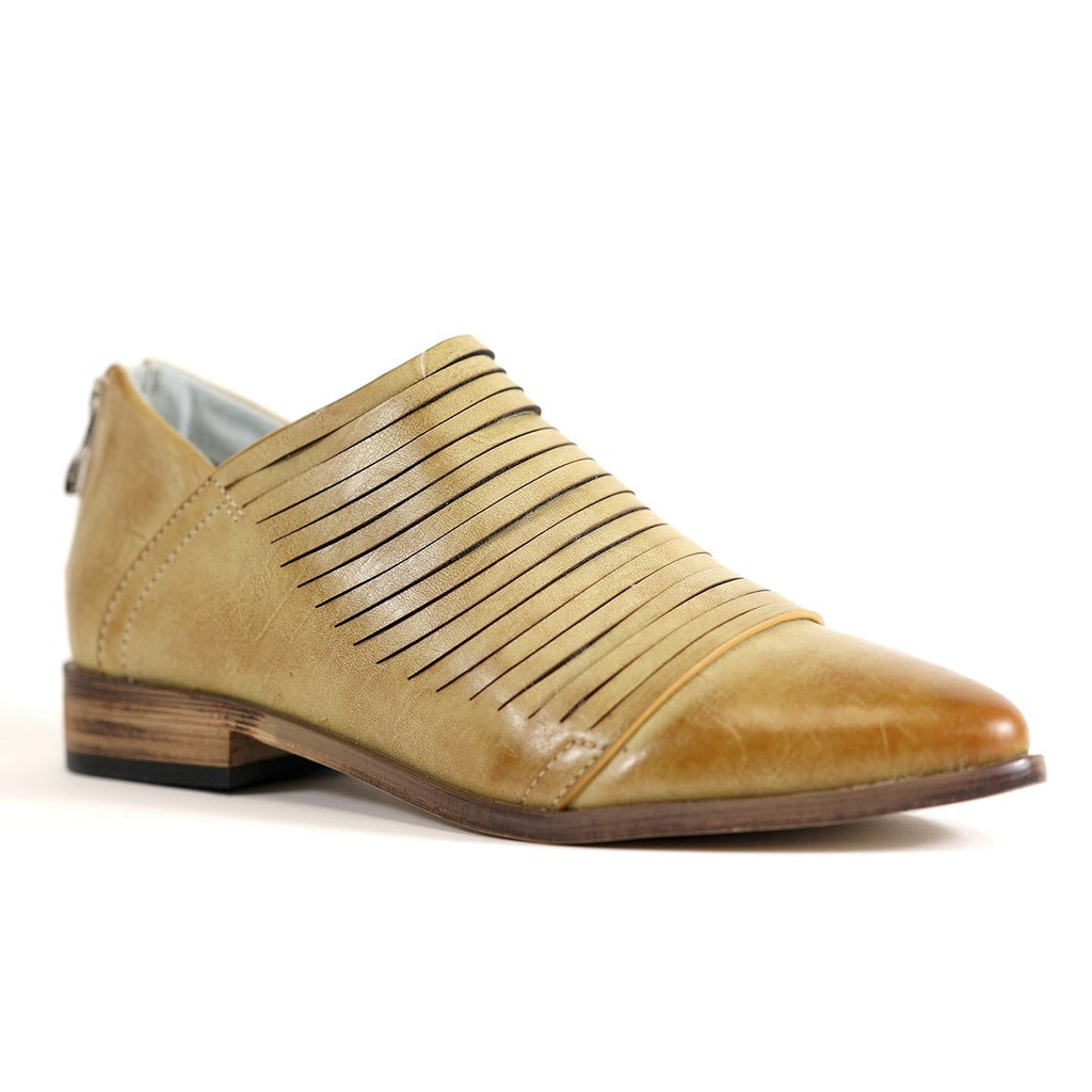 Alana Bootie in Beige - Bangle Boulevard
