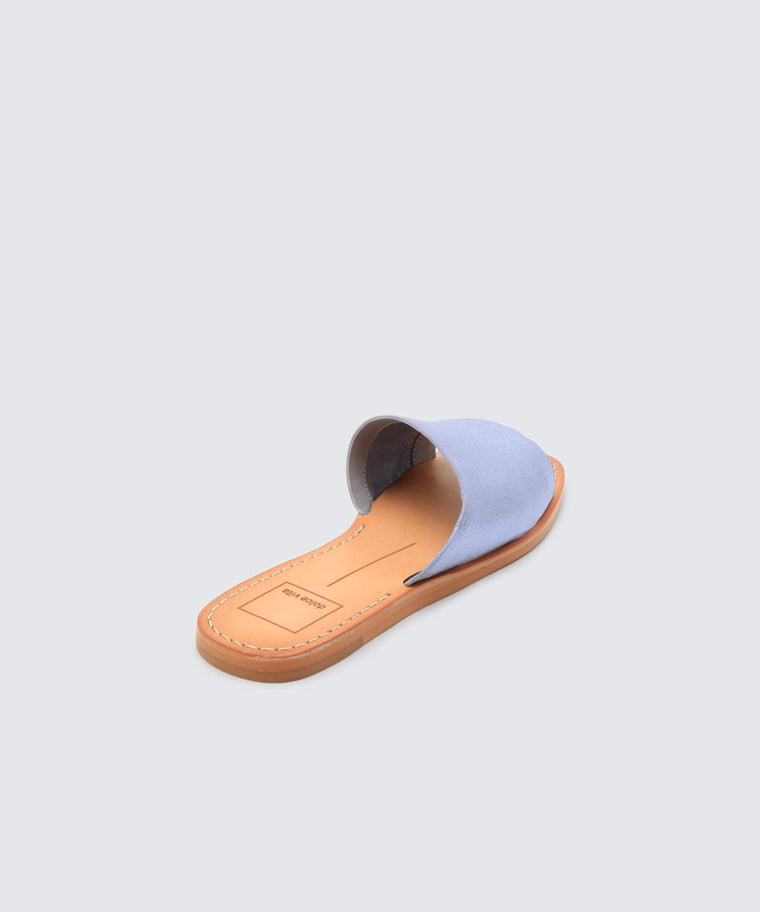 Cato Sandal in Blue Metallic - Bangle Boulevard