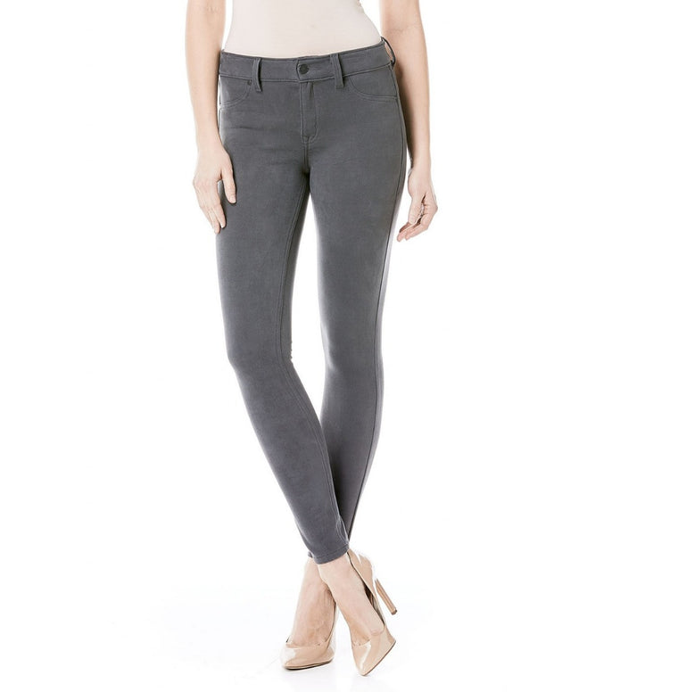 Janice Mid-Rise Ultra Skinny in Suede Earl Grey