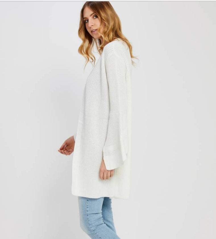 Elora Cardigan in White - Bangle Boulevard