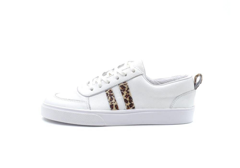 Corvina Leopard Lace Up Sneaker - Bangle Boulevard