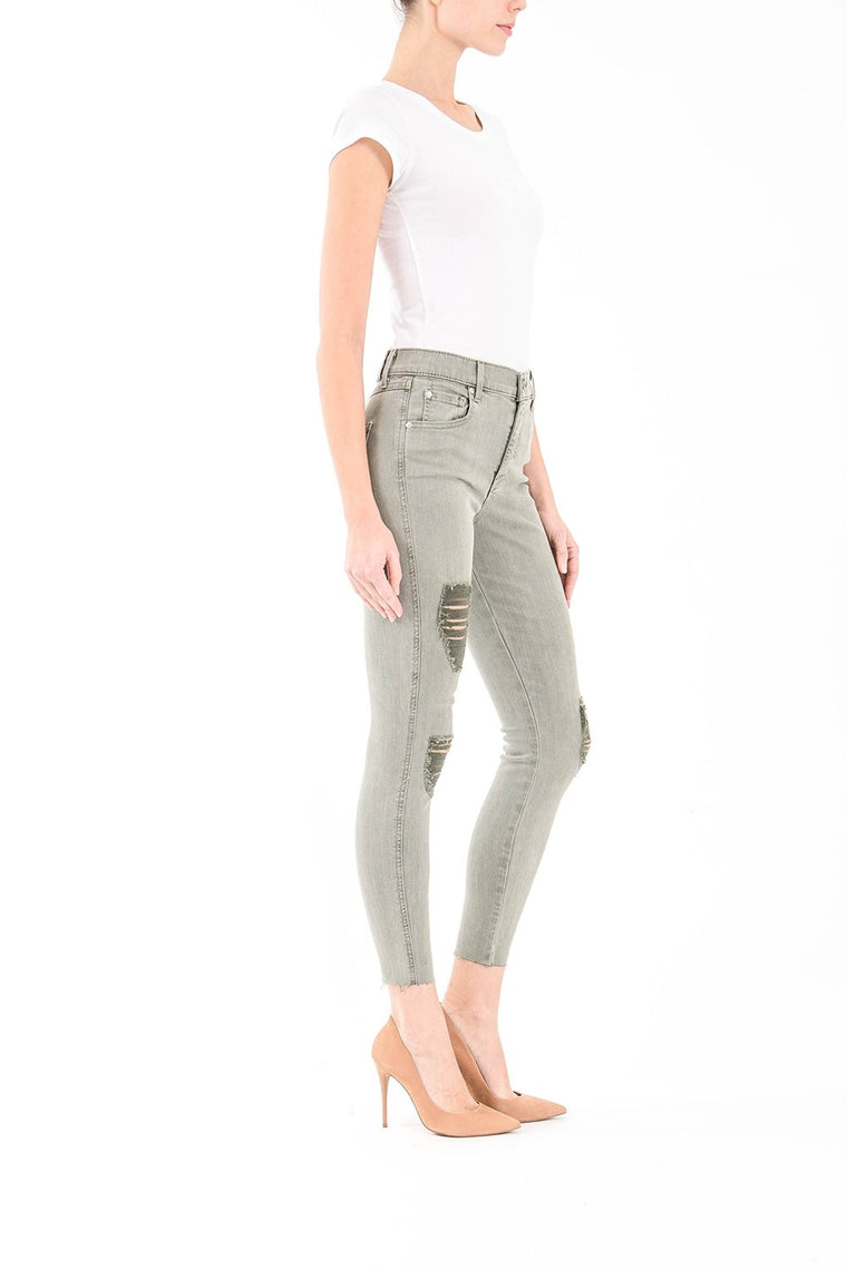 Janie High Rise Skinny in Moss - Bangle Boulevard