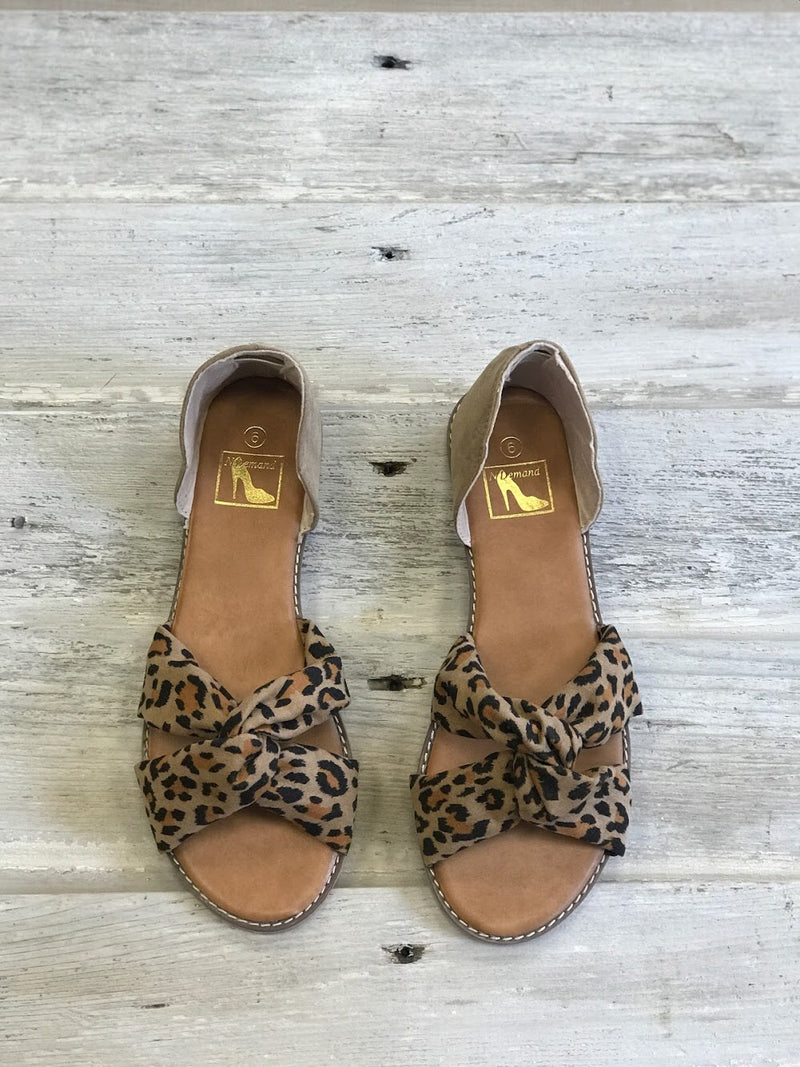 Lucy Leopard Sandals
