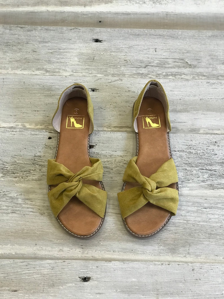 Lucy Mustard Sandals - Bangle Boulevard