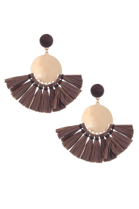Benet Earrings in Brown