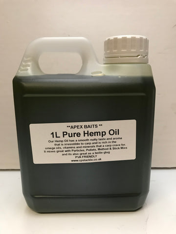 Apex Baits 1 Litre Pure Hemp Oil