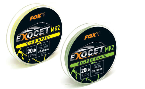 Fox Exocet MK2 Spod and Marker Braid 20lb