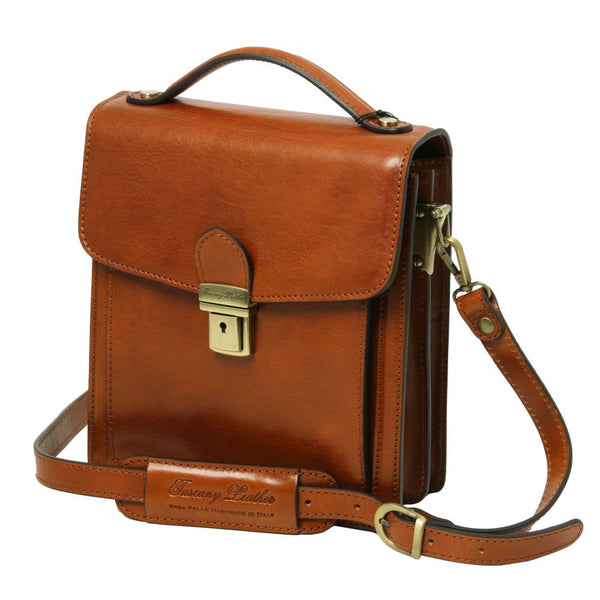f0b2537f99f4 David - Tuscany Leather - Leather Crossbody Bag - Small size - Bags For  Business -