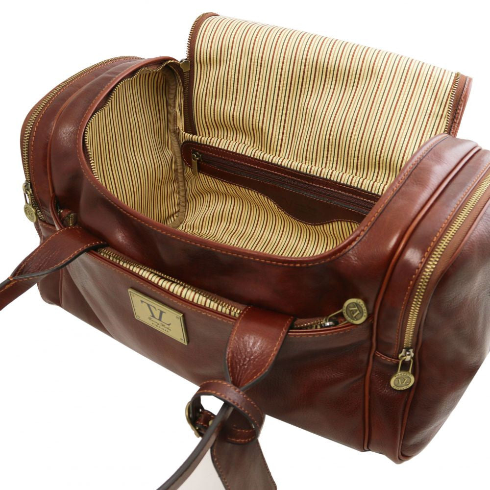 Luggage Hand Travel Leather Bag With Side Pockets