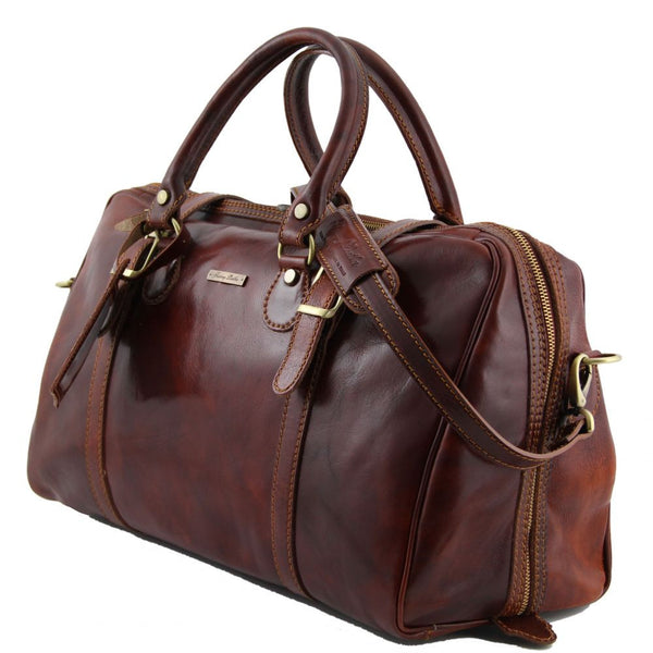 Berlino - Tuscany Leather - Travel leather duffle bag - Small size - Bags  For Business 7faa8a87e87f8