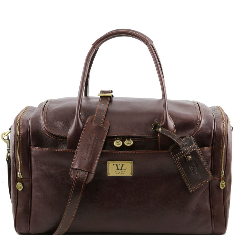 Luggage Carry On Bag Travel Leather Bag With Side