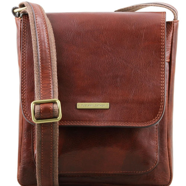 78b918fb05 Jimmy - Tuscany Leather - Crossbody bag for men with front pocket - Bags  For Business