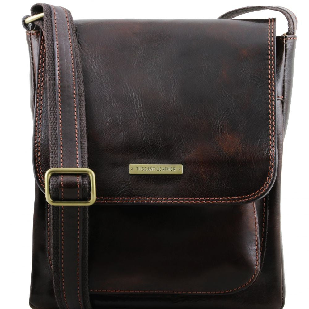 16c0e02fe4 ... Jimmy - Tuscany Leather - Leather crossbody bag for men with front  pocket - Bags For ...