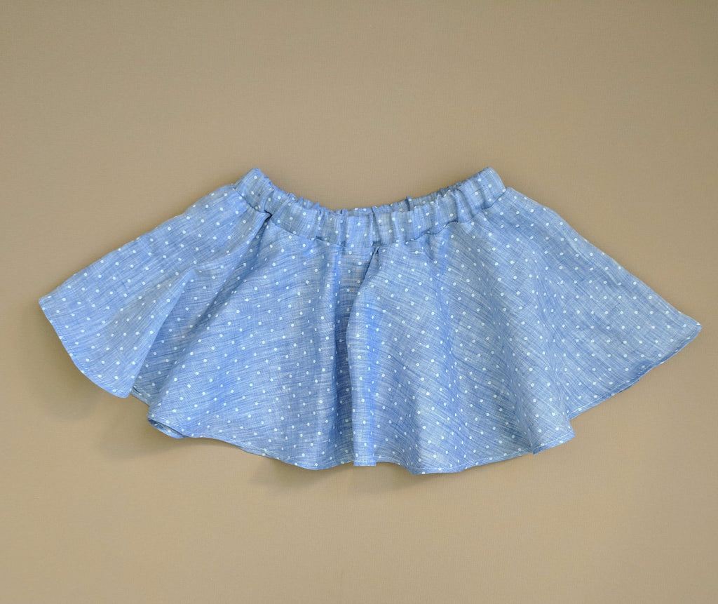 Blue Dot Twirl Skirt