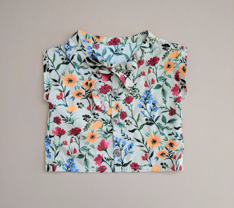 Fall Floral Boxy Blouse