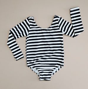 Black and White Stripe Leotard