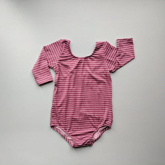 Mauve Stripe Leotard