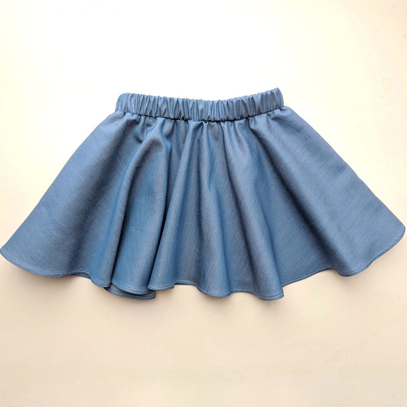 Chambray Twirl Skirt