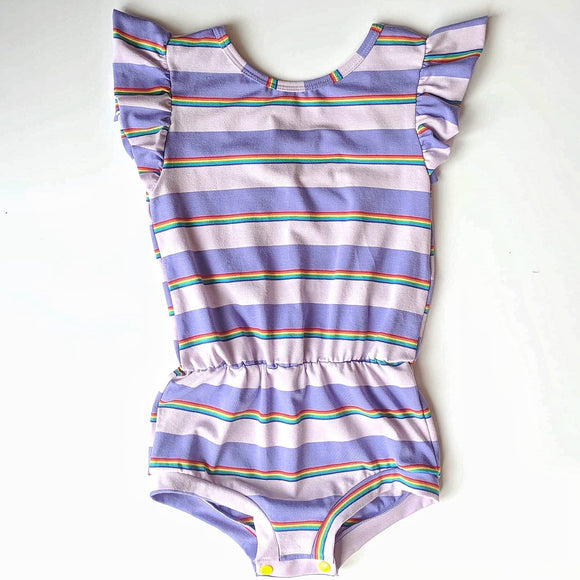 Purple Rainbow Essential Romper