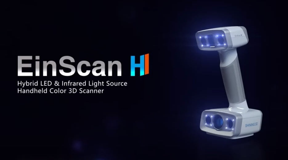 EinScan H - Hybrid LED & Infrared Light Source Handheld Colour 3D Scanner