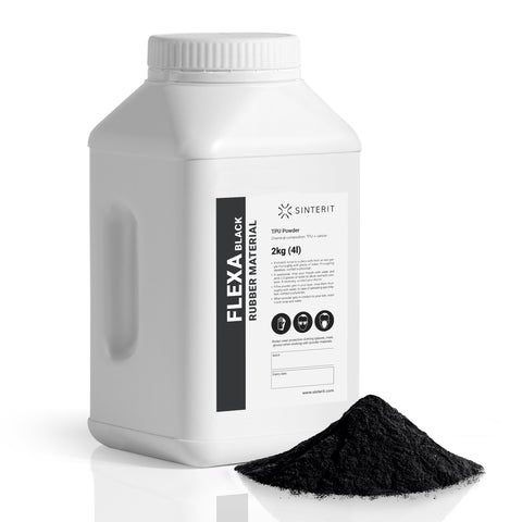 SLS Powder – TPU FLEXA BLACK (2kg)
