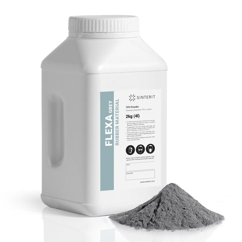 SLS Powder – TPU FLEXA GREY (2kg)