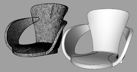 Mesh2Surface: Scan-2-CAD