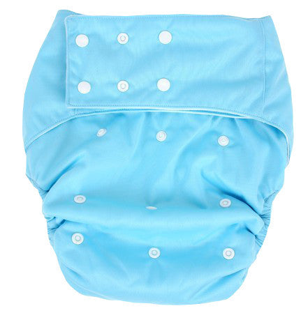 Easy Feel Plain PUL Double Gusset Suede Pocket Adult Cloth Diaper + 2 Inserts