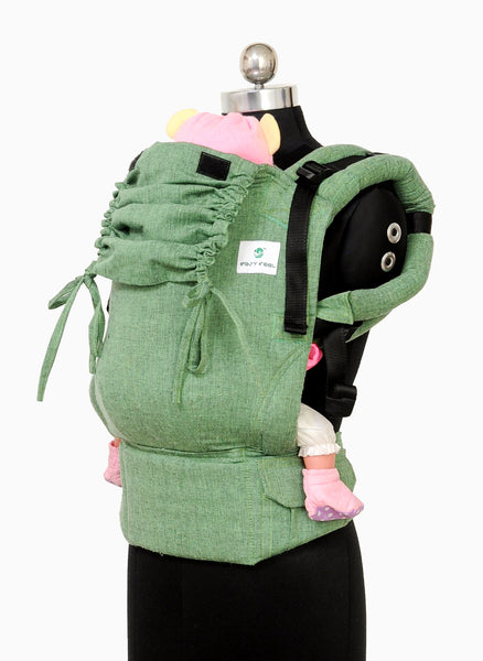 Easy Feel Full Buckle Ergonomic Soft Structured Carrier (Standard Size) - Basil