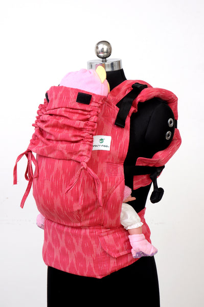 Easy Feel Full Buckle Ergonomic Wrap Converted Soft Structured Carrier (Standard Size) - Blush