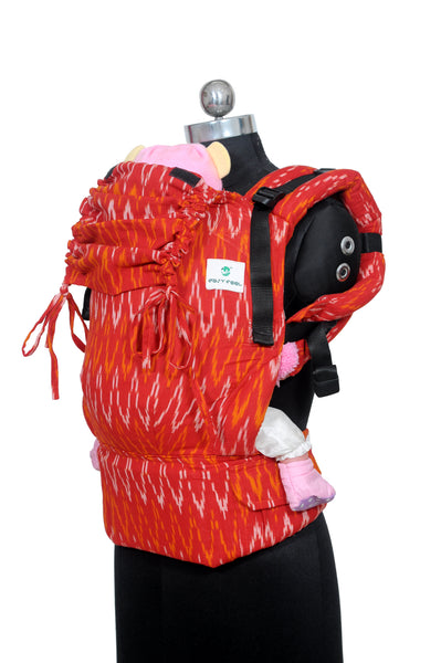 Easy Feel Full Buckle Ergonomic Wrap Converted Soft Structured Carrier (Standard Size) - Candy Apple