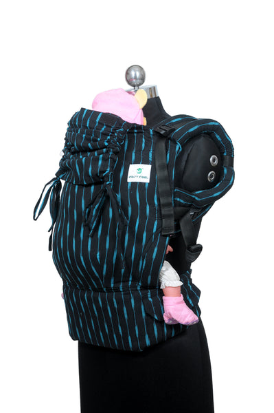 Easy Feel Full Buckle Ergonomic Wrap Converted Soft Structured Carrier (Standard Size) - Charcoal
