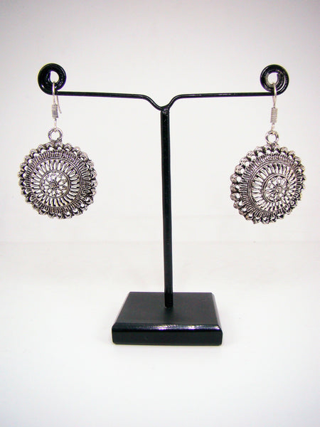 Oxidized Metal Silver Finish Dangle & Drop Earrings for Girls & Women