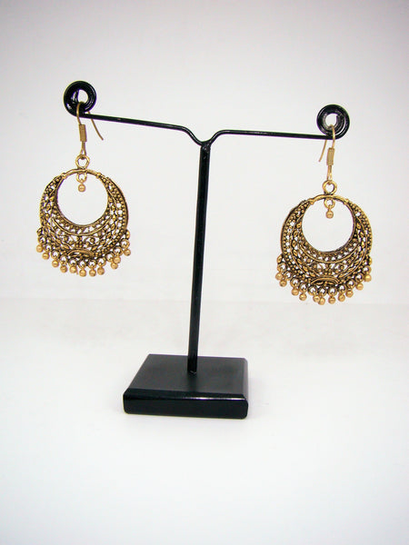 Oxidized Metal Gold Finish Dangle & Drop Earrings for Girls & Women