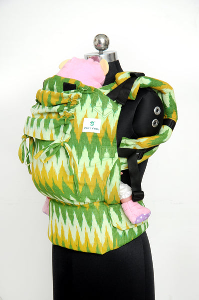 Easy Feel Full Buckle Ergonomic Wrap Converted Soft Structured Carrier (Toddler Size) - Daffodil