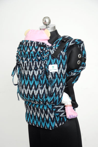 Ikat Cotton Toddler Full Buckle - Dusk V2