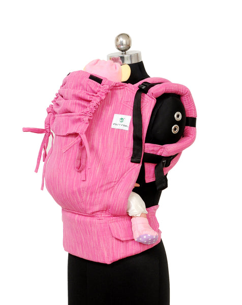 Easy Feel Full Buckle Ergonomic Soft Structured Carrier (Standard Size) - Flamingo