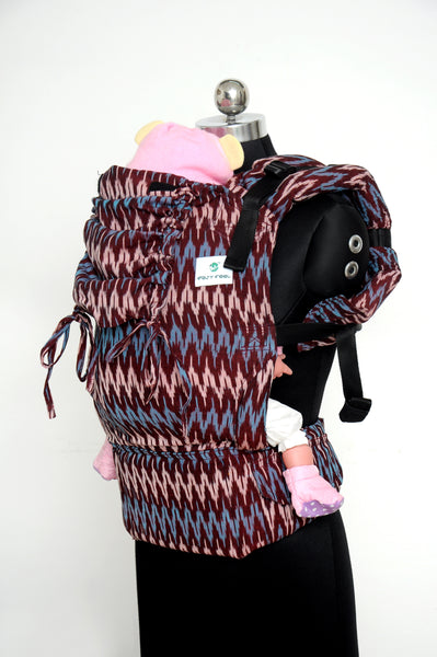 Easy Feel Full Buckle Ergonomic Wrap Converted Soft Structured Carrier (Toddler Size) - Garnet